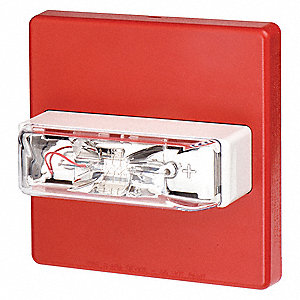 Strobe Light,Red,185 Candle Pwr,Wall Mnt
