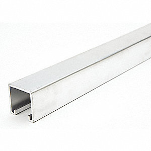 "Solid Standard 1-5/8"" x 1-5/8"" Strut Channel, Aluminum, 12 ga., 2 ft."