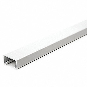 "Solid Standard 1-5/8"" x 13/16"" Strut Channel, White Painted Steel, 14 ga., 4 ft."