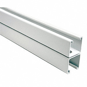 "Slotted Back to Back 1-5/8"" x 3-1/4"" Strut Channel, White Painted Steel, 12 ga., 3 ft."