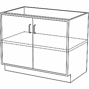 "36"" x 21-5/8"" x 29-3/8"" Steel Base Cabinet, Pearl White"