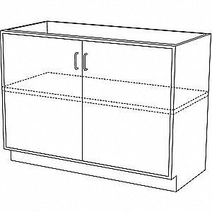 "30"" x 21-5/8"" x 35-1/4"" Steel Base Cabinet, Pearl White"