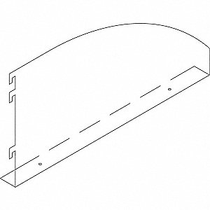 "16"" Right Bookend Bracket"