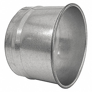 "Stainless Steel Hose Adapter, 6"" Duct Fitting Diameter, 4"" Duct Fitting Length"