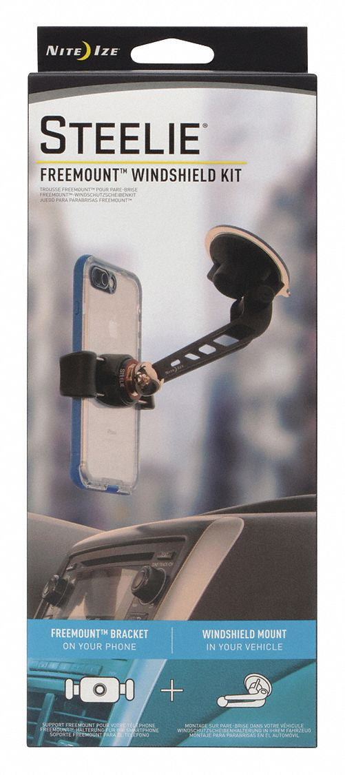 Cell Phone Car Mount Kit,  Fits Brand Various Electronic Devices,  Black