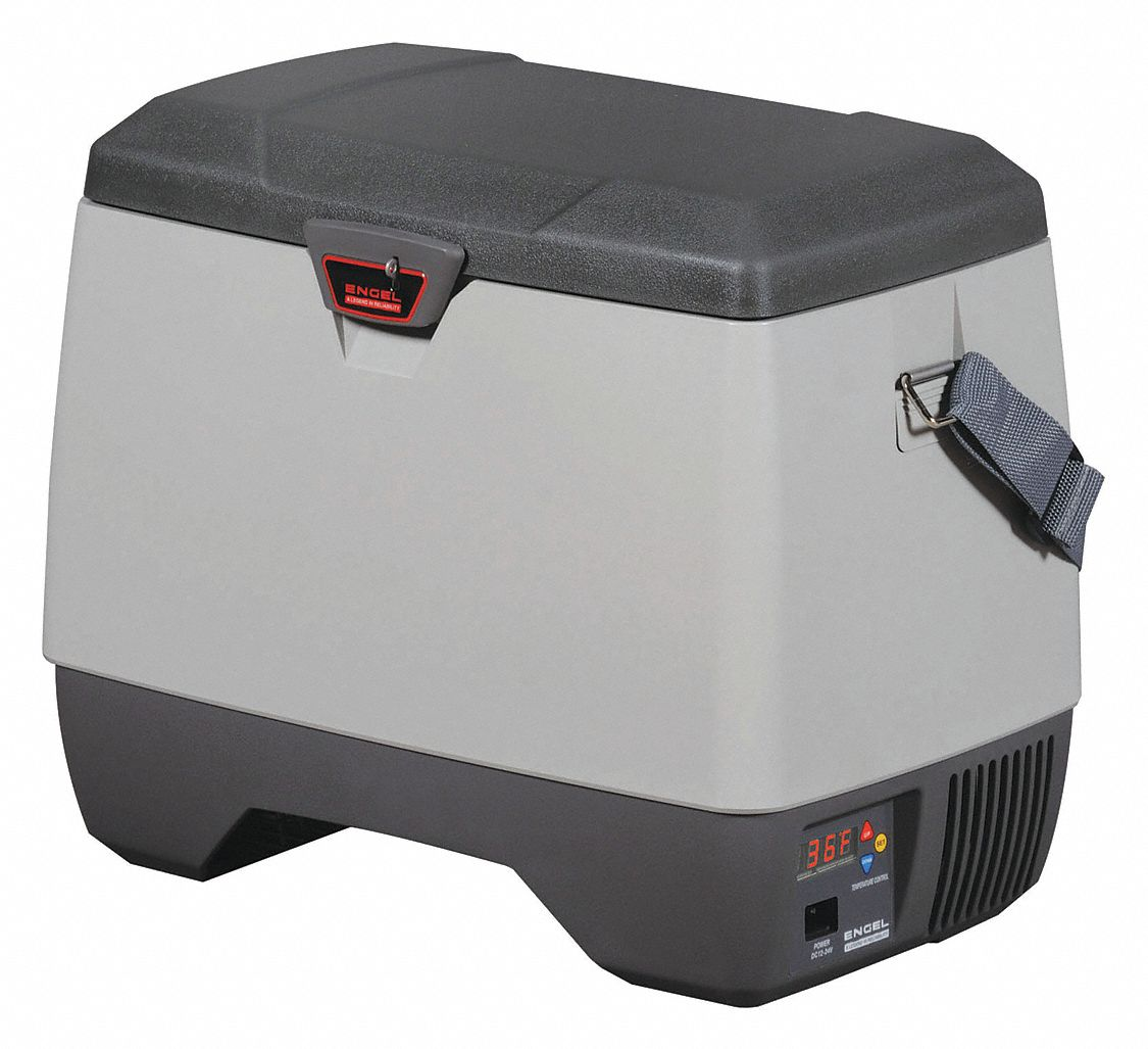 Plastic,  14.0 qt,  Marine Chest Cooler,  Up to 10 days Ice Retention,  Gray
