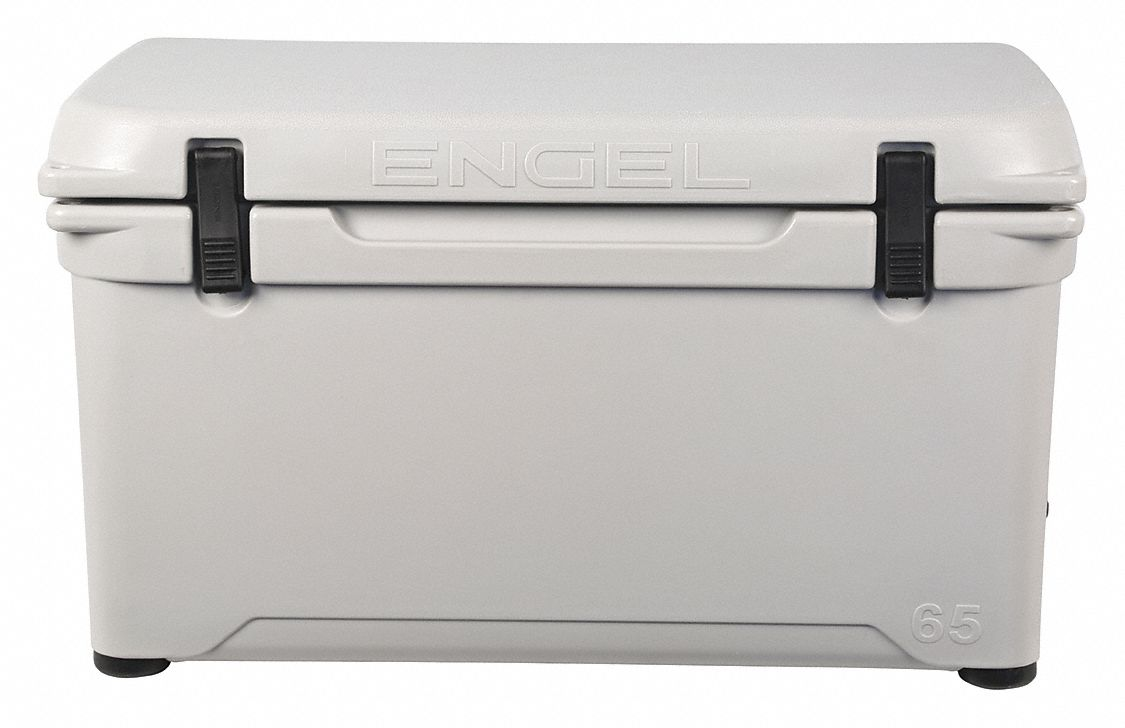 Plastic,  58.0 qt,  Marine Chest Cooler,  Up to 10 days Ice Retention,  Gray
