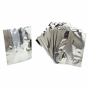 "Storage Bags,  10"" Length,  1/64"" Width,  For Use With Roam Alert System,  Silver,  PK 10"