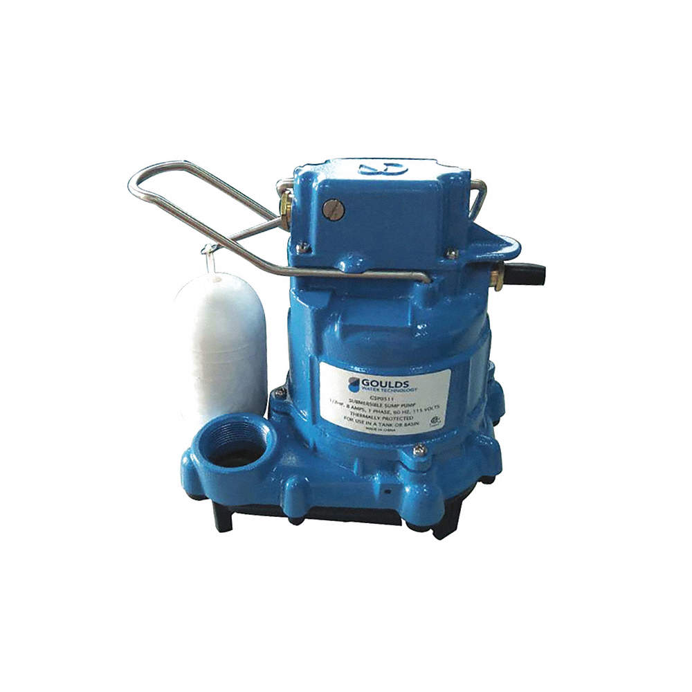 1/3 HP Submersible Sump Pump, Vertical Float Switch Type, Thermoplastic  Base Material
