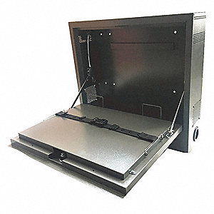 20-5/8  x 5-1/4  x 19-1/8  Steel Laptop Security Cabinet Gray  sc 1 st  Grainger & Laptop Security Cabinet Computer Cabinets - Shop Furniture ...
