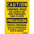 Caution/Precaucion: Confined Space Use Lockout And Entry Procedures Prior To Entry/Espacio Confinado. Usar Los Procedimientos De Entrada Y De Bloqueo Antes De Ingresar Signs