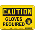 "Personal Protection, Caution, Fiberglass, 7"" x 10"", With Mounting Holes, Not Retroreflective"