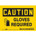 Caution: Gloves Required Signs