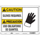 Caution/Precaucion: Gloves Required./Uso Obligatorio De Quantes. Signs