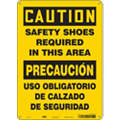 "Personal Protection, Caution, Aluminum, 14"" x 10"", With Mounting Holes, Not Retroreflective"