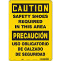 "Personal Protection, Caution, Plastic, 14"" x 10"", With Mounting Holes, Not Retroreflective"