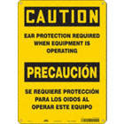 Caution/Precaucion: Ear Protection Required When Equipment Is Operating/Se Requiere Proteccion Para Los Oidos Al Operar Este Equipo Signs