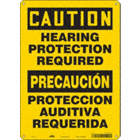 Caution/Precaucion: Hearing Protection Required/Proteccion Auditiva Requerida Signs