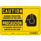 Caution/Precaucion: Hearing Protection Required In This Area/Se Requiere Proteccion Del Oido En Esta Area Signs