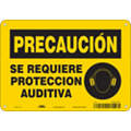 "Personal Protection, Caution, Aluminum, 7"" x 10"", With Mounting Holes, Not Retroreflective"