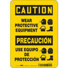Caution/Precaucion: Wear Protective Equipment/Use Equipo De Proteccion Signs