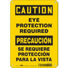 Caution/Precaucion: Eye Protection Required/Se Requiere Proteccion Para La Vista Signs