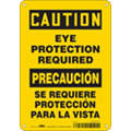 "Personal Protection, Caution, Aluminum, 10"" x 7"", With Mounting Holes, Not Retroreflective"