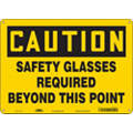 "Personal Protection, Caution, Aluminum, 10"" x 14"", With Mounting Holes, Not Retroreflective"