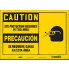 Caution/Precaucion: Eye Protection Required In This Area/Se Requiere Gafas En Esta Area Signs