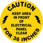 Keep Area In Front of Electrical Panel Clear Floor Signs