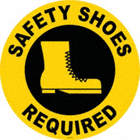 Safety Shoes Required Floor Signs