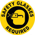 Safety Glasses Required Floor Signs