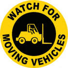 Watch for Moving Vehicles Floor Signs