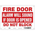 "Emergency Exit Floor Sign,10"" W x 7"" H"