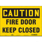 Caution: Fire Door Keep Closed Signs