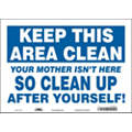 "Cleaning and Maintenance, Blank, Vinyl, 10"" x 14"", Adhesive Surface, Not Retroreflective"