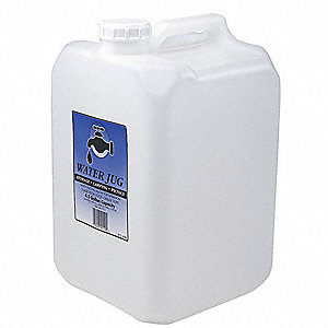 4.5 gal. Water Container, Clear High Density Polyethylene, 1 EA