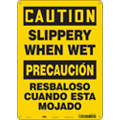 "Accident Prevention, Caution, Aluminum, 14"" x 10"", With Mounting Holes, Not Retroreflective"