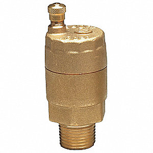 "150 psi Automatic Air Vent Valve, Brass, 1/2"" Inlet"