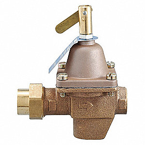 "1156F Series 4-1/8""L Bronze Pressure Regulator, 10 to 25 psi"