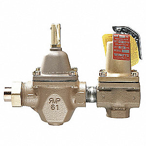 Iron/Bronze Combination Fill and Relief Valve, Union Solder Inlet Type, FNPT Outlet Type