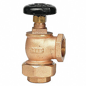 Radiator Supply Valve,Angle,1/2 In