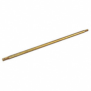 Float Rod,1/4-20,10 In L,Brass