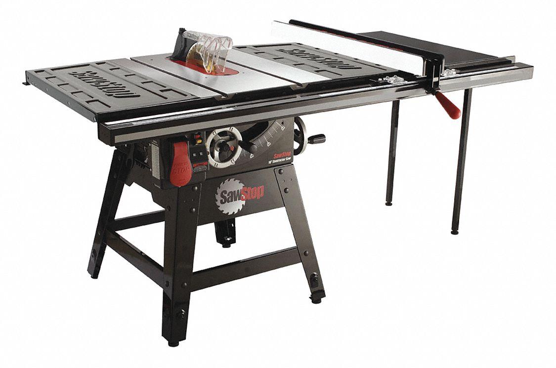 10 Contractor Table Saw 14 0 Amps Blade Tilt Left 5 8 Arbor Size 4000 No Load Rpm