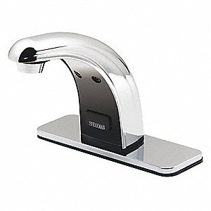 Bathroom Faucet,Deck,Battery,5-3/4inH