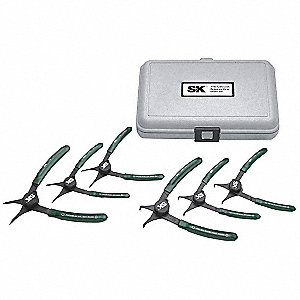 Convertible Retaining Ring Plier Set, Number of Pieces: 6