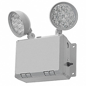 Emergency Light,Wet Loc,LED,Gray