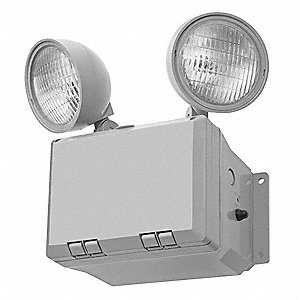 "14"" x 11-1/2"" x 13-1/2"" Incandescent Emergency Light, Wall Mounting"