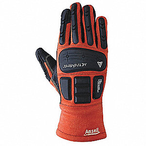 Flame Resistant Gloves, Size 9, PR