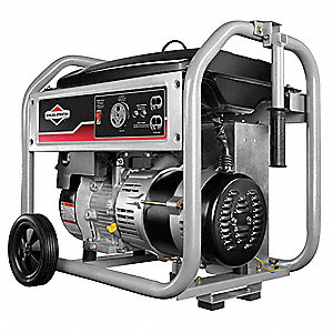 Recoil Gasoline Portable Generator, 3500 Rated Watts, 4375 Surge Watts, 120VAC